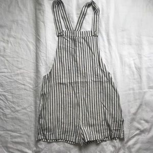 Forever 21 Stripped Overalls size sm